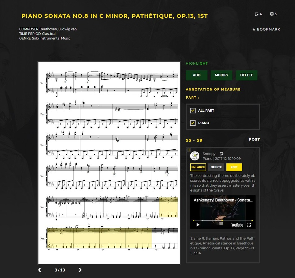 Musicanote, a music media content startup that developed a music search engine, has now launched an online music score annotation service.