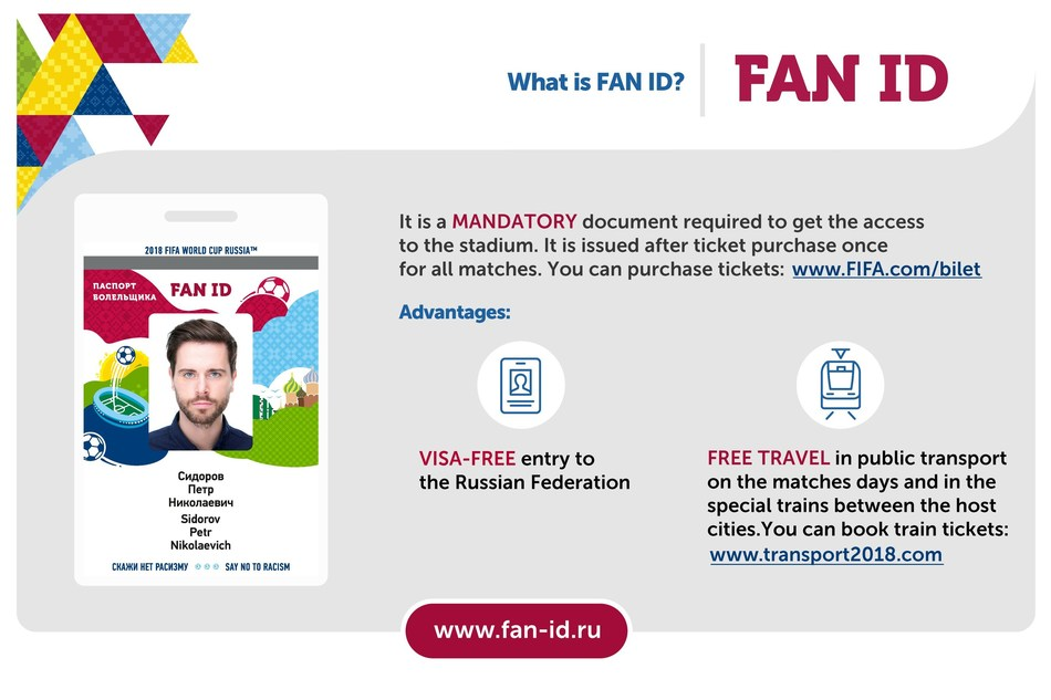 What is FAN ID? It is mandatory document required to get the access to the stadium. (PRNewsfoto/Ministry of Communications)