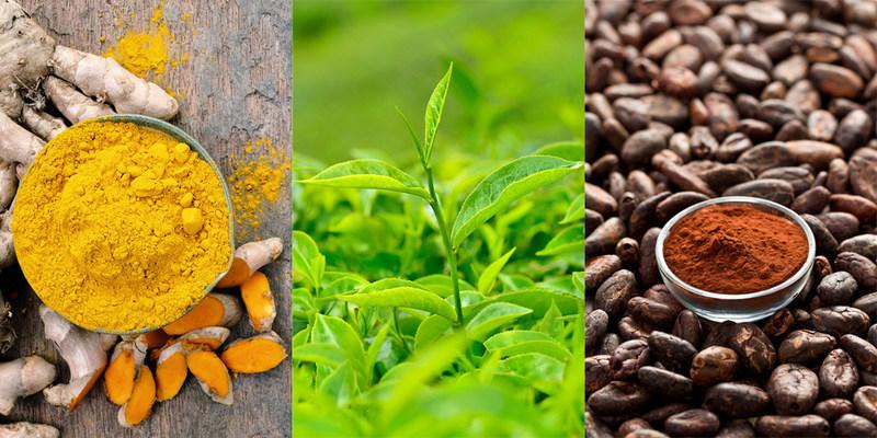 Green tea vs turmeric vs cocoa