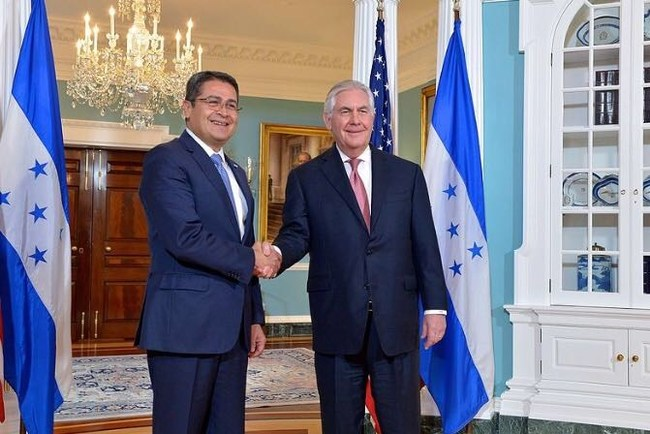 Republic of Honduras thanks U.S. government for congratulating President Juan Orlando Hernández on his electoral victory