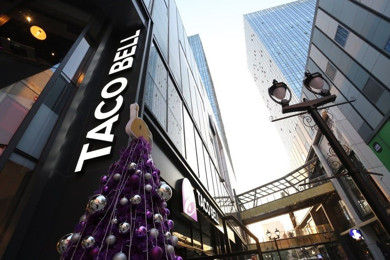 Yum China opens a new Taco Bell restaurant in Wu Jiao Chang, Shanghai in Dec 2017
