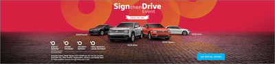 The Sign then Drive Event at Pacific Volkswagen includes lease specials on the 2018 VW Tiguan, Atlas, Passat and Jetta.