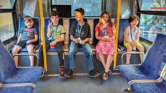 The authorities told Adrian Crook his children are too young to ride the bus unchaperoned, even though they did it every day to get to school.