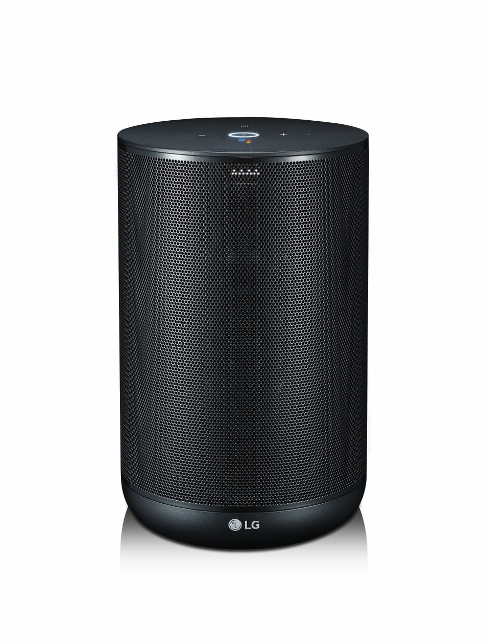 LG is also announcing its first premium smart AI audio product, the LG ThinQ Speaker, which not only produces high-quality sound but comes with Google Assistant built in. LG teamed up with Google to ensure that the LG ThinQ Speaker delivers all the conveniences that come with having a digital assistant at your side, including a personalized voice-activated interface for LG's smart home appliances.