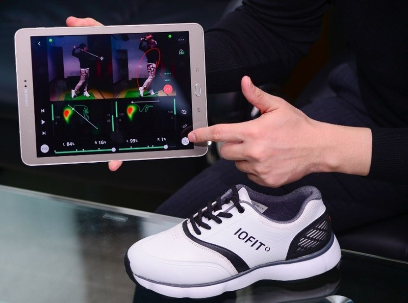 Salted Venture's primary product, IOFIT is a golf shoe with a sensor installed in its sole.