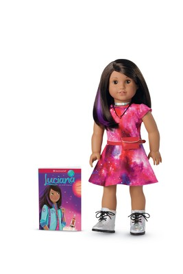 American Girl introduces its new 2018 Girl of the Year, Luciana Vega, a creative, confident 11-year-old who wants to be the first person on Mars. Luciana launches on January 1.