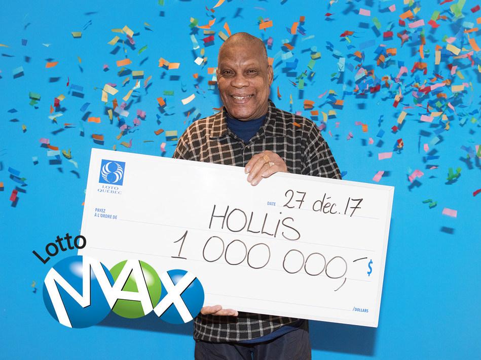 The winner, Hollis Baptiste (CNW Group/Loto-Québec)