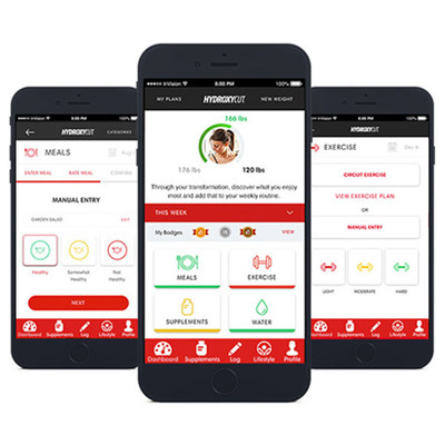 The Hydroxycut App is a free download and offers simple-to-follow meal plans, activity guides and information to help achieve weight loss goals. (CNW Group/Iovate Health Sciences International Inc.)
