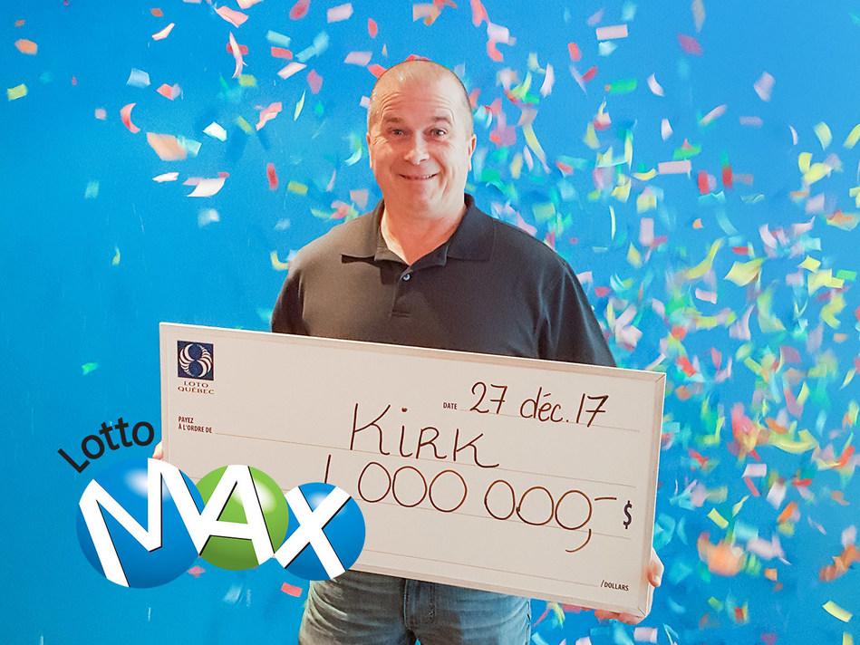 The winner, Kirk Kelly (CNW Group/Loto-Québec)