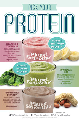 Planet Smoothie starts the New Year with three protein packed smoothies, available for a limited time.