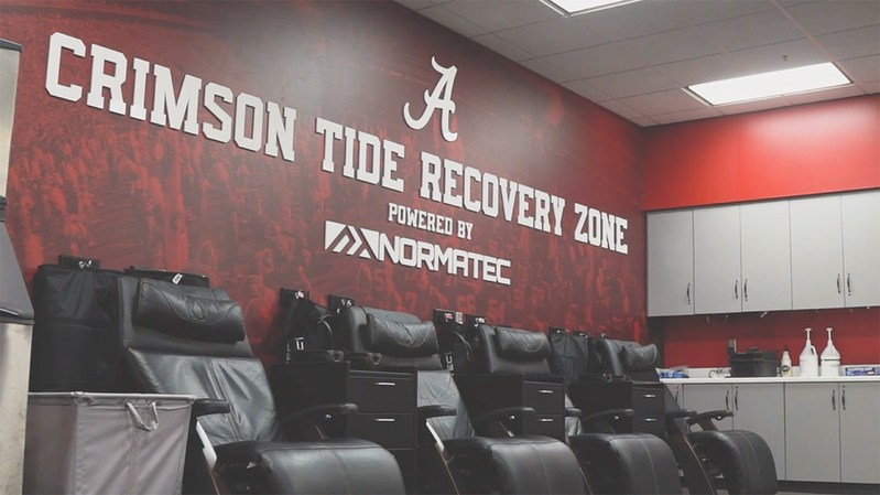 Inside the Recovery Zone Powered by NormaTec at the University of Alabama