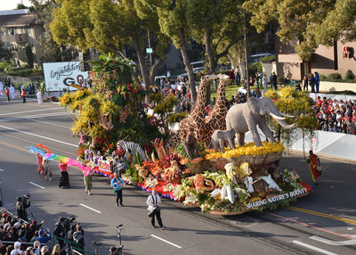 Dole Packaged Foods' 2018 Rose Parade Float 'Sharing Nature's Bounty' took home the Grand Marshal award for its outstanding creative concept and float design.