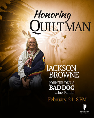 Singer songwriter Jackson Browne announces a benefit concert at Pechanga Resort & Casino on Saturday, February 24, 2018 at 8:00 PM. The benefit concert, Honoring Quiltman, will be held in the Pechanga Theater.