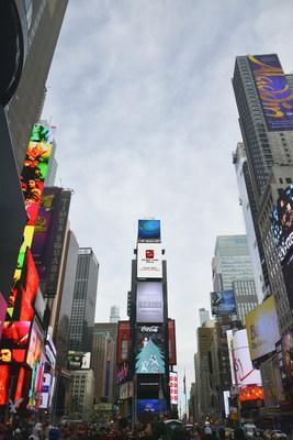 Vídeo promocional da cidade Zhongshan na Times Square (PRNewsfoto/Zhongshan Municipal Party Commi)