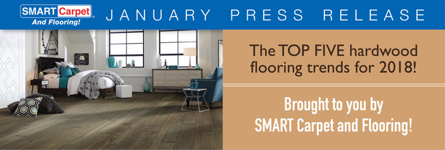 The top 5 hardwood flooring trends brought to you by SMART Carpet and Flooring.