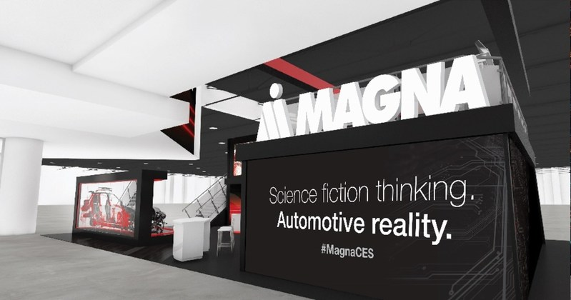 At CES 2018, visitors to the Magna booth (#7506 in North Hall LVCC) will get an interactive glimpse into the car of the future. (CNW Group/Magna International Inc.)