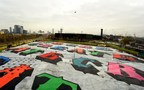 Zippo and Ben Eine's 17,500 square meter mural in East London, UK (PRNewsfoto/Zippo)