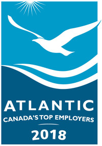 Atlantic Canada's Top Employers 2018 (CNW Group/Mediacorp Canada Inc.)