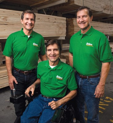 Three of the six brothers who own award-winning Stine Lumber in Sulphur, Louisiana. (Left to right pictured: Dennis Stine, Chief Executive Officer, Tim Stine, Chief Financial Officer, and David Stine, VP of Marketing and Merchandising)