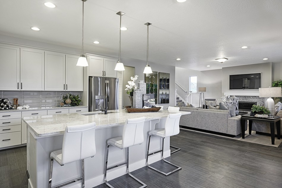 The open-concept Yorktown plan was designed for entertaining.