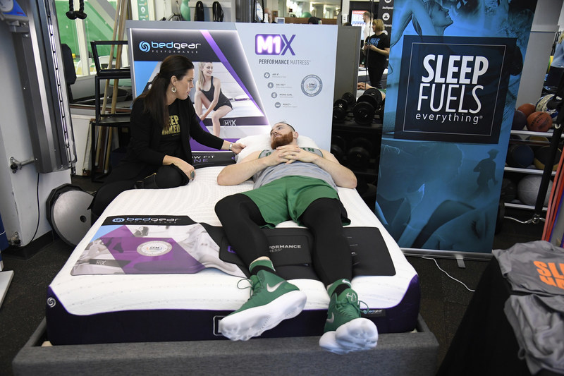 Aron Baynes is fit for his BEDGEAR sleep system