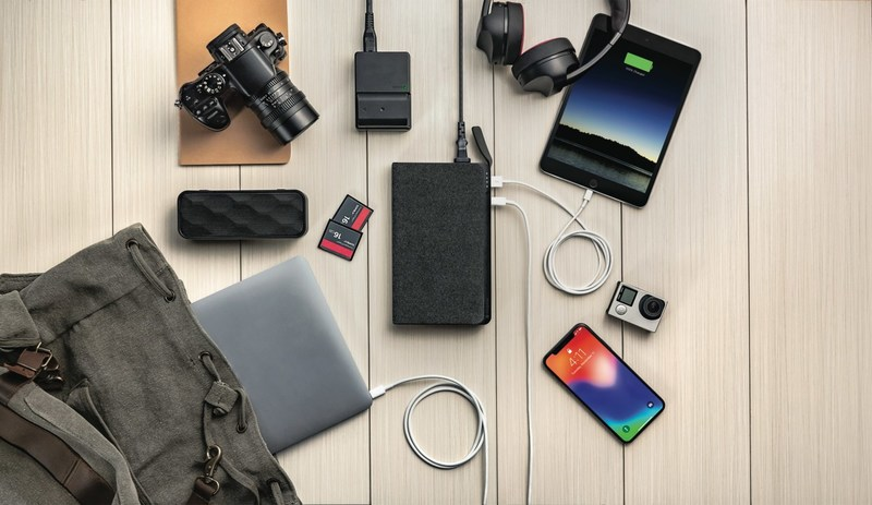 The mophie powerstation AC is a high-capacity external battery with AC power and USB-C PD fast charging for laptops, tablets, smartphones and other devices.