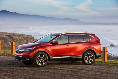 American Honda and the Honda Division set new all-time annual light truck sales records in 2017. The Honda CR-V lead the way with its own annual record, with 377,895 units sold. (PRNewsfoto/American Honda Motor Co., Inc.)