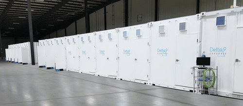 Newly constructed 'grow pods' at the Delta 9 facility in Winnipeg are part of a $23 million expansion project at the Manitoba based Licensed Producer. (CNW Group/Delta 9 Cannabis Inc.)