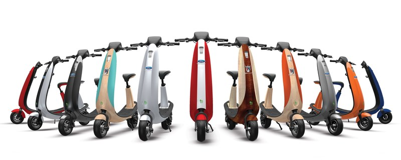 Ford OjO Commuter Scooters: Bike Lane Friendly Smart Electric Scooters