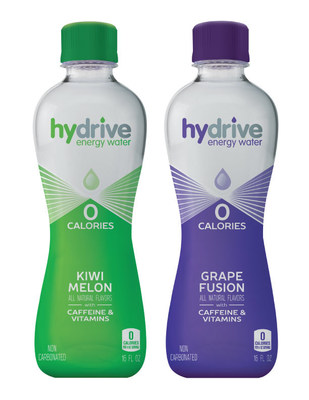 Hydrive Energy Water, a refreshing, zero-calorie energy water, announces the launch of two new flavors. Kiwi Melon and Grape Fusion join Hydrive's line up to provide consumers with the hydration benefits of water and the added function of energy from B vitamins and caffeine.