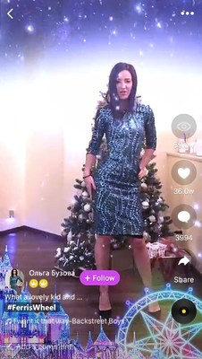 Ольга Бузова gave her greetings via a short video made by LIKE App
