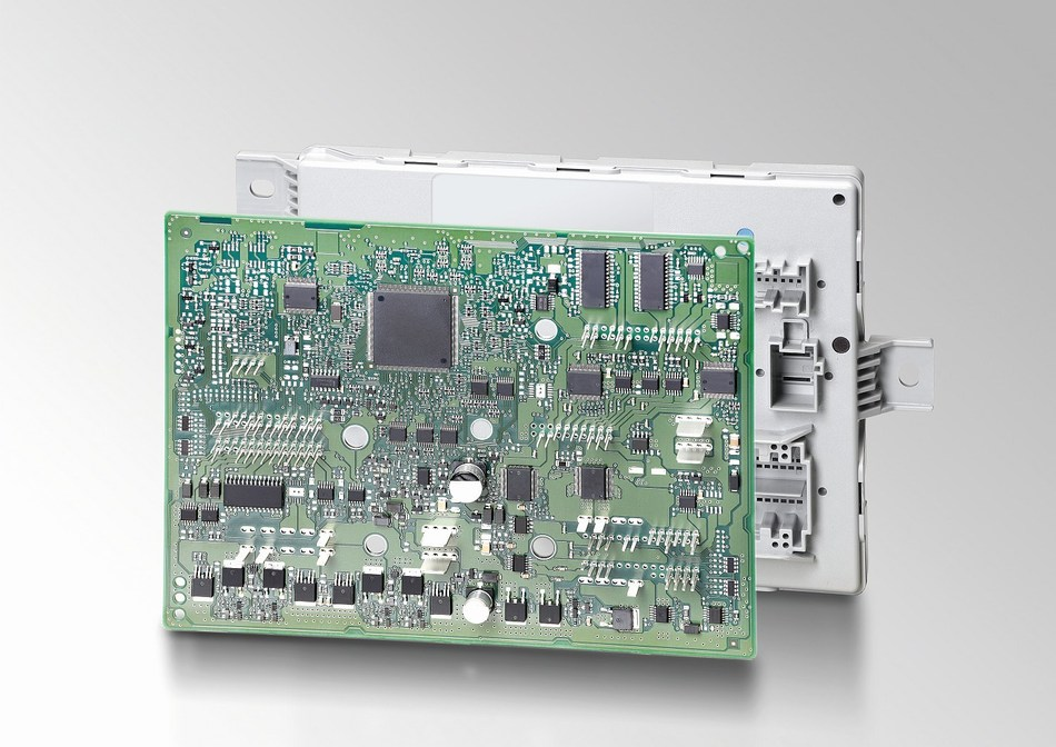 Excelfore demonstrates how the eSync OTA system can reach individual electronic devices in the connected car, such as this Body Control Module manufactured by HELLA.