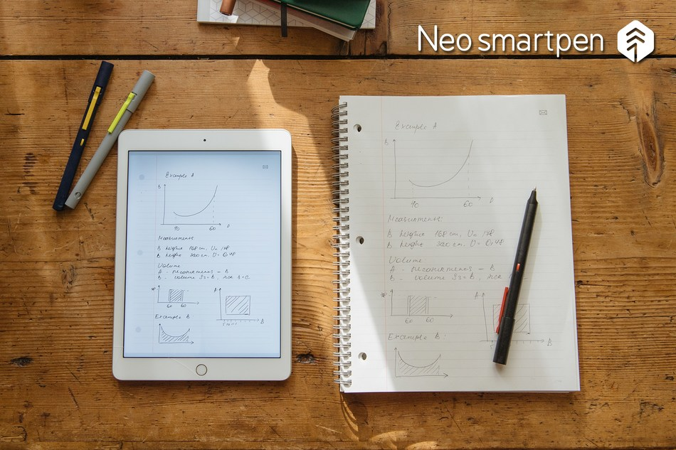 Neo smartpen M1 seamlessly digitizes your handwritten notes to your smart devices, such as, smartphones, tablets and PC. Record your note-taking process, edit and share your notes.