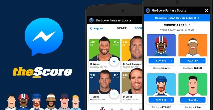 theScore launches first fantasy sports game for Facebook's Instant Games. (CNW Group/theScore, Inc.)