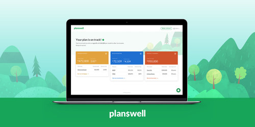 Clients of Planswell can track and update their entire plans through a single dashboard (CNW Group/Planswell)
