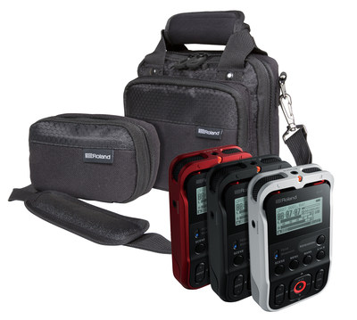 Roland R-07 High-Resolution Audio Recorders With Optional Bag and Pouch