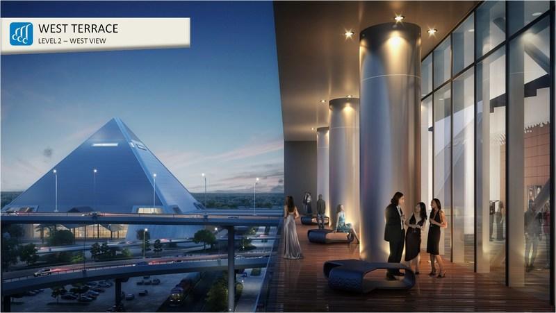 Memphis Convention Center Expansion & Renovation - WEST TERRACE FACING RIVER