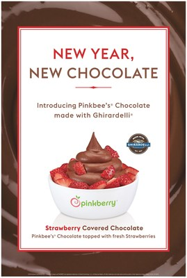 Pinkberry® is ringing in the New Year by introducing Pinkbee's® Chocolate Reduced-Fat, Milk Ice Cream made with Ghirardelli®, available for a limited time only.
