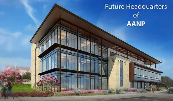 The new national headquarters of the American Association of Nurse Practitioners will be located at 5901 Vega Avenue in southwest Austin, Travis County, Texas, on a 4.199-acre tract of land. The three story, 33,943 square foot professional office building will be mostly owner-occupied by AANP. The first floor will have space for tenants. The glass, stone and stucco building will have surface parking for 134 vehicles