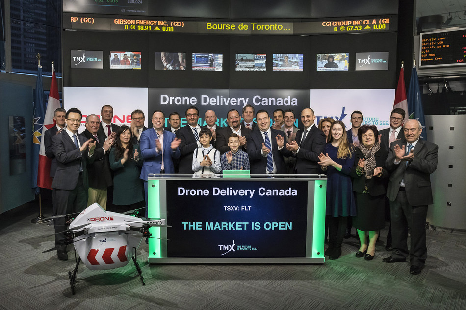 Drone Delivery Canada Corp. Opens the Market (CNW Group/TMX Group Limited)