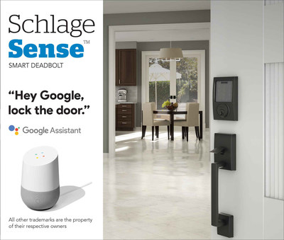 Schlage Sense™ Smart Deadbolt Now Works with the Google Assistant