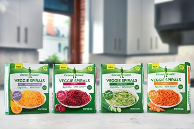 Green Giant Veggie Spirals™ are 100% vegetables with no sauces or seasonings and are available just in time to help consumers make and maintain their resolutions to eat more veggies in 2018.
