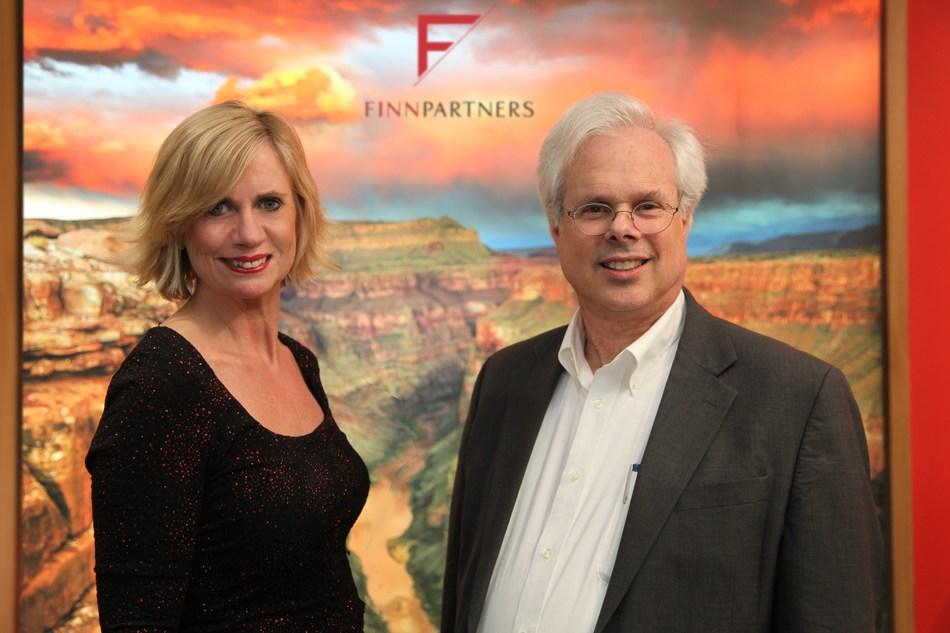 Debbie Flynn, managing partner, The Brighter Group, a Finn Partners company and Peter Finn, founding partner, Finn Partners.