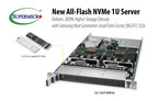 New Supermicro all-flash 1U Storage Server supports 36 Samsung NGSFF NVMe SSDs.