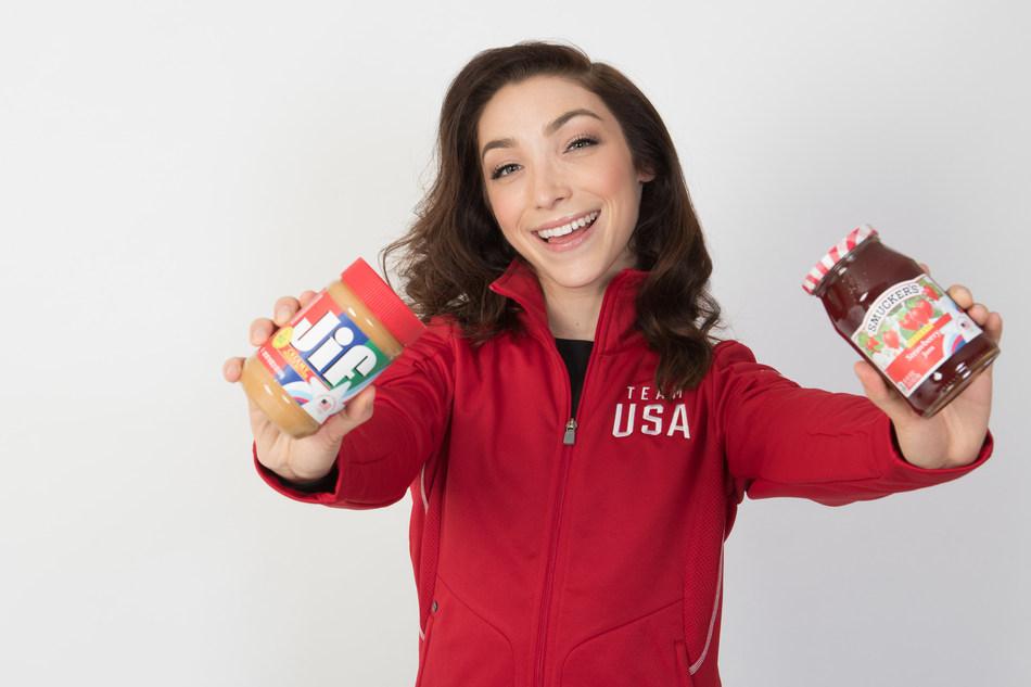 U.S. Olympic gold medalist figure skater Meryl Davis, on behalf of the Jif®, Smucker's®, and Smucker's® Uncrustables® brands.
