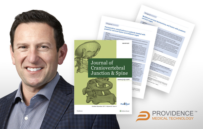 Pictured: Jeremy Laynor, Providence's newly appointed Vice President of US sales and two clinical publications in the December 2017 issue of the Journal of Craniovertebral Junction and Spine.