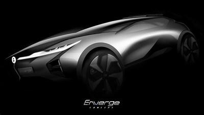 Enverge, a primeira SUV-conceito compacta e elétrica da GAC (PRNewsfoto/GAC Motor)