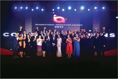 Recipients of the International Innovation Awards 2017 in Shanghai 2017 with chairman of Enterprise Asia Dr Fong Chan Onn and president of Enterprise Asia William Ng