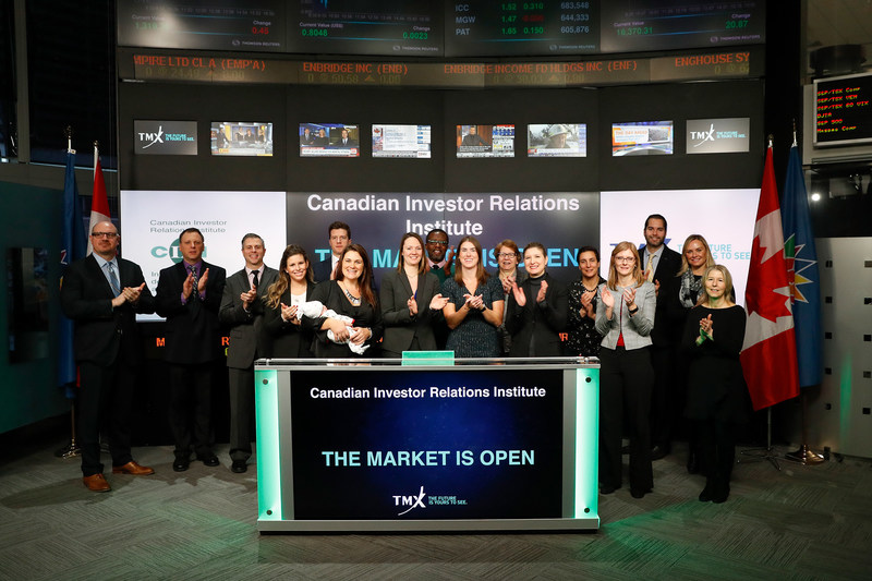 Canadian Investor Relations Institute Opens the Market (CNW Group/TMX Group Limited)