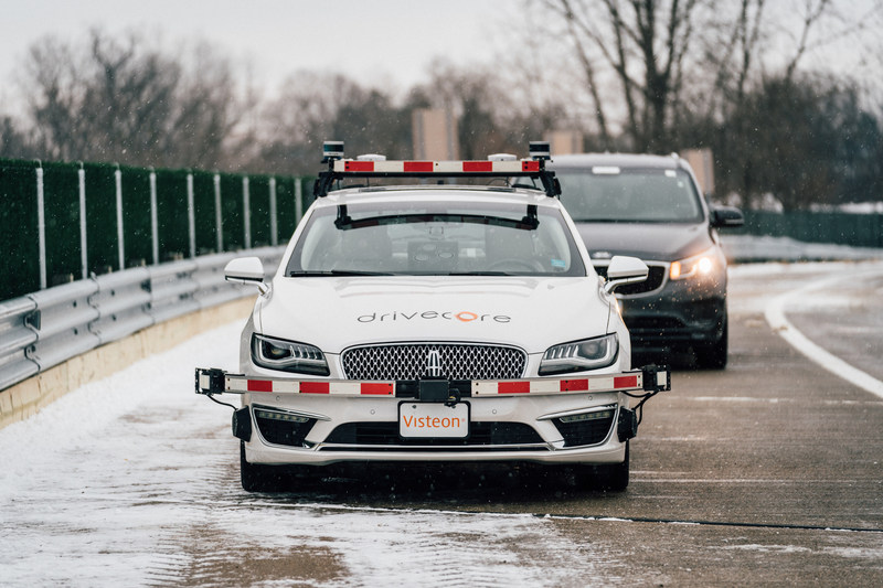 Visteon tests its DriveCore(tm) autonomous driving platform at The American Center for Mobility in Ypsilanti, Michigan.
